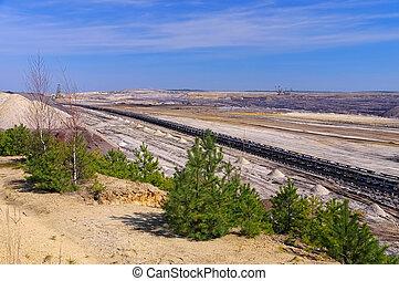 Open-pit mining Welzow in Germany