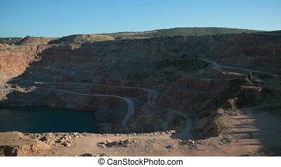 Open Pit stone Mine. Ukraine, Crimea, Balaklava