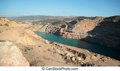 Open Pit stone Mine. Ukraine, Crimea, Balaklava