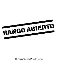 open range stamp in spanish