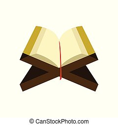 Open Read Quran Islamic Illustration Design - Open Read...