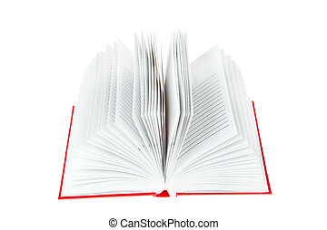 open red book on white background