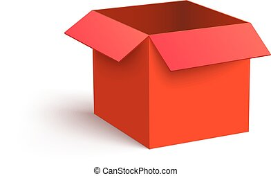 open gift design red vector celebration box color image clipart and