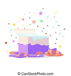 Open Red Gift Box Illustration Holiday Collection