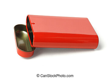 Open Red Metal Box
