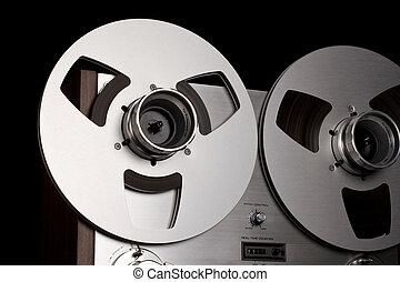 Open Reel Stereo Deck closeup