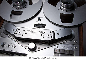 Open Reel Stereo Deck closeup
