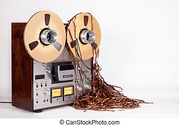 Open Reel Tape Deck Recorder Player