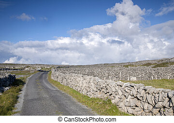 Open Road on Inishmore, Aran Islands, Ireland