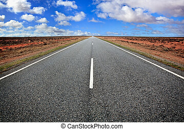 Open Road - Open road in the Australian outback, western New...