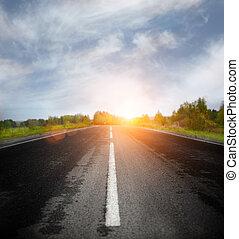 Open Road - Road Running Through Fields