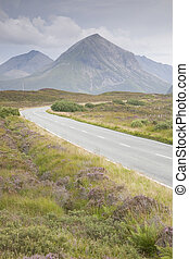 Open Road to the Cuillin Hills, Isle of Skye, Scotland