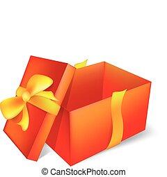 open, rood, cadeau