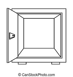 open safe box icon