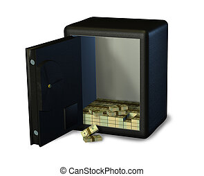 Open Safe with Money