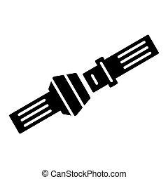 Open Safety belt icon. Vector concept illustration for design.