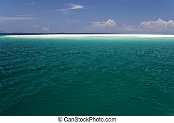 Open Sea and Sand Bar - Image of the open sea and a sandbar ...