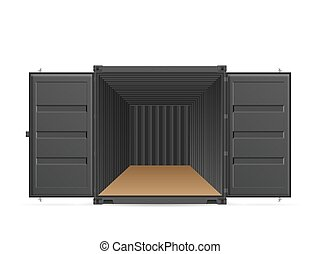 Open shipping cargo container