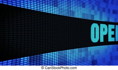 Open Side Text Scrolling LED Wall Pannel Display Sign Board...