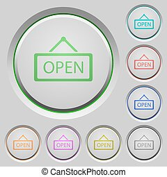 Open sign push buttons