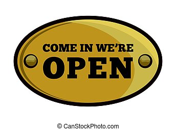Open sign - Vector illustration of the signboard for open...