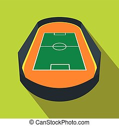 Open soccer field flat icon