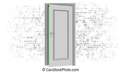 Open source computer code. Door to code - Door to code. Open...