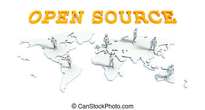 Open source Concept with Business Team