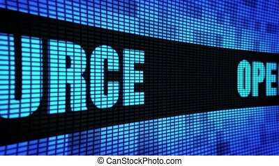 Open Source Front Text Scrolling LED Wall Pannel Display...