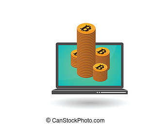 Open-source money Bitcoin - Illustration of open-source ...