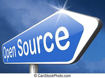 open source program software program or economy freeware...