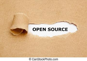 Open Source Torn Paper