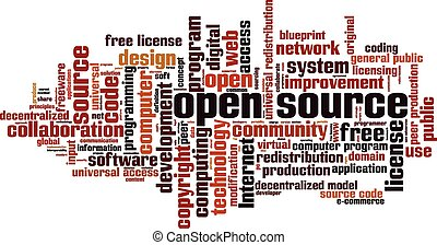 Open source vector clipart illustrations 491 open source clip art open source word cloud concept vector illustration malvernweather Images