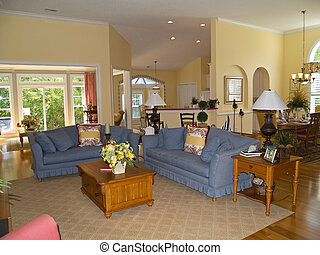 Open Space - A open space floor plan of a nicely decorated...