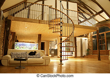cozy house - Open space living room and second floor...