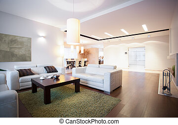 Open space with living room