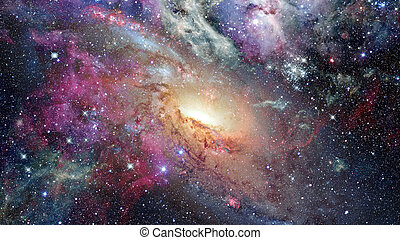 Open space with nebulae and galaxies. Elements of this image...