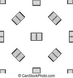 Open spiral lined notebook pattern seamless black