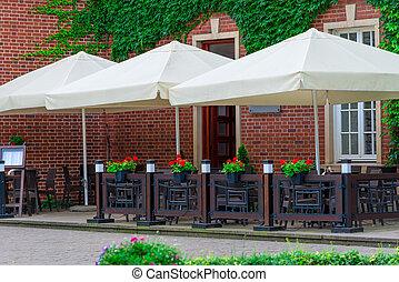 open street cafe in a European city
