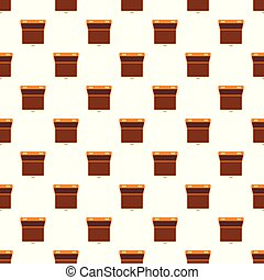 Open suitcase pattern seamless vector