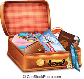 Open Suitcase with Clothes