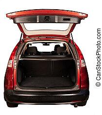 Open SUV car trunk