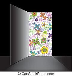 open the door with flowers