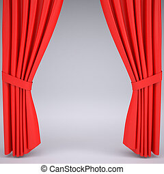 Open the red curtain