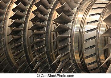 Open the steam turbine
