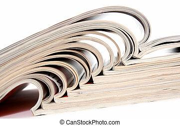open, tijdschriften, hoop