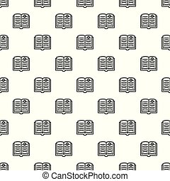 Open torah pattern seamless vector repeat for any web design