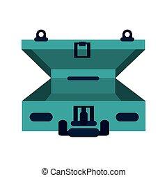 open travel suitcase icon