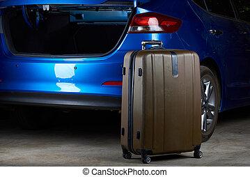 Open trunk of modern car
