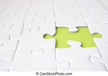 Open Vacancy - A single green gap in a plain white puzzle...